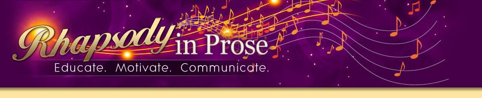 Rhapsody in Prose