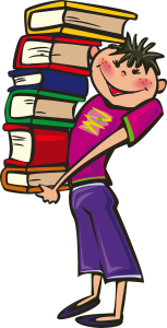 boy book stack - pixabay